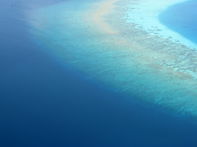 Maldives island from above
