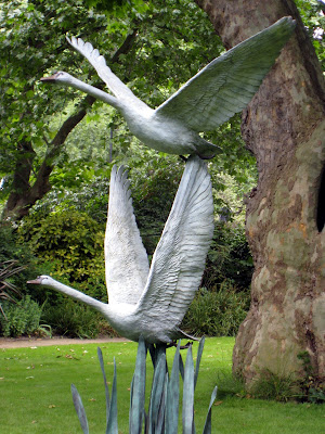 Sculptures in at London Open Garden Squares Weekend