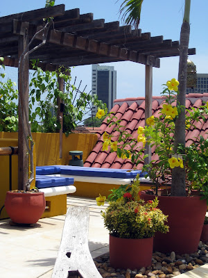 Roof deck of Casa El Carretero hotel in Cartagena