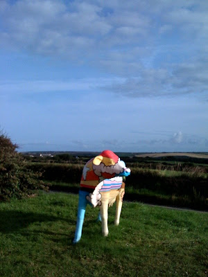 Cow sculpture at Newquay Airport in Cornwall