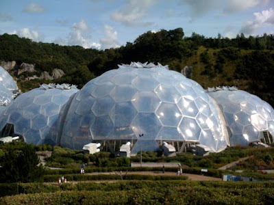 The domes of the Eden Project in Cornwall, England