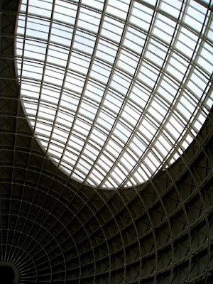 The Corn Exchange interior ceiling in Leeds