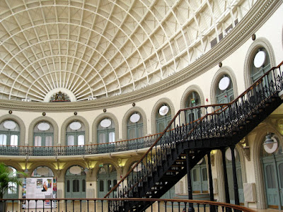 The Corn Exchange building interior in Leeds