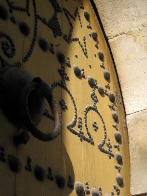 Carved door in Tunis old town