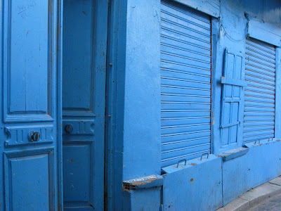 Blue shops in Tunis