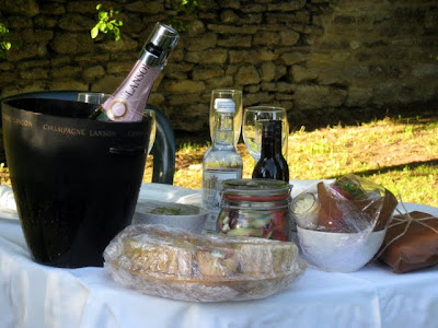 Picnic dinner at Garsington Opera in England