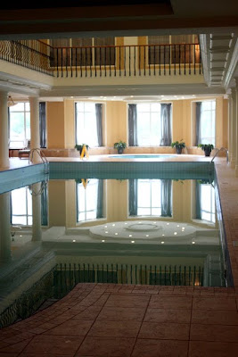 Pool at the Terelj Hotel and Tereljmaa Spa in Mongolia