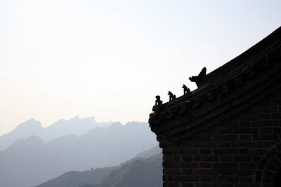 Rooftop at the Great Wall of China near Beijing