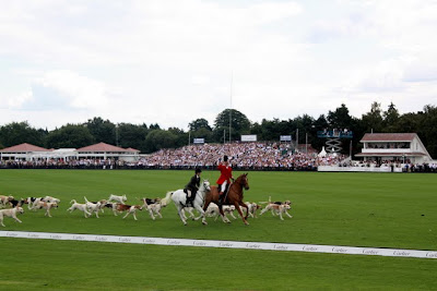 Dogs and horses at the Cartier International Polo in England