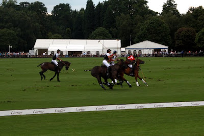 Polo match at the Cartier International Polo in England