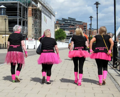 Hen party in Newcastle upon Tyne England