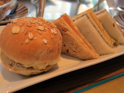 Afternoon tea sandwiches at Pret a Portea in London