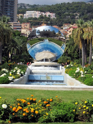 Fountain in a park in Monte Carlo