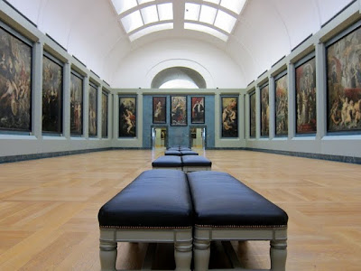 Room in the Louvre on a private tour in Paris France