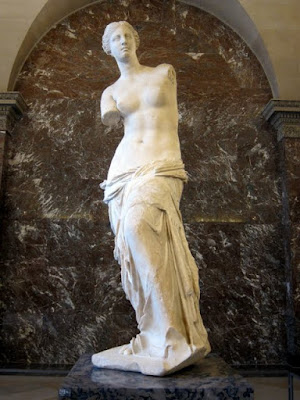 Venus de Milo at the Louvre museum in Paris France