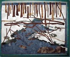 landscape pieces sewn down