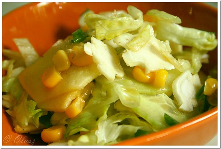 credit crunch salad/sałatka/surówka