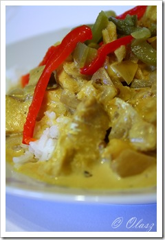 kremowe curry z rybą/creamy fish curry