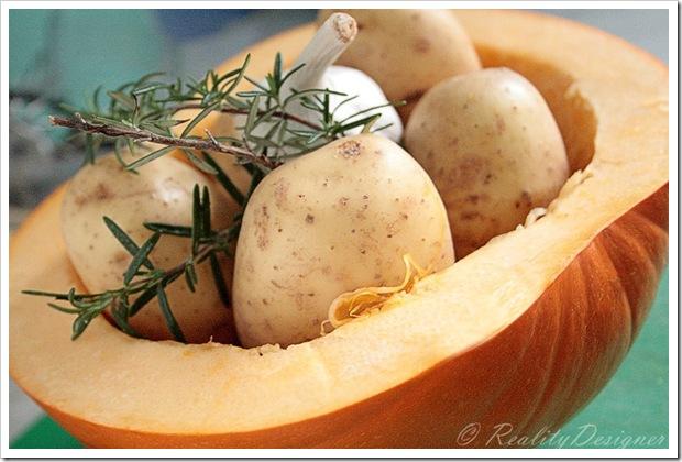 zapiekanka z dyni i ziemniaków/ pumpkin potatoes gratin