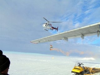 Indian Air Force Helicopter Wallpaper [Antarctica, South Pole]
