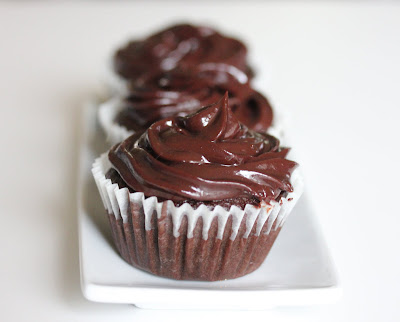 Chocolate cupcakes with chocolate ganache frosting - Kirbie's Cravings