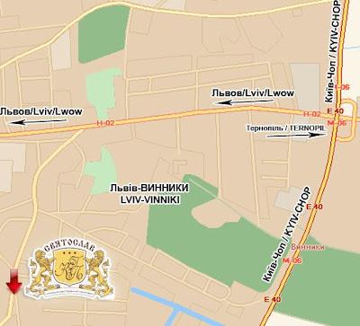 Карта-схема проїзду до готелю