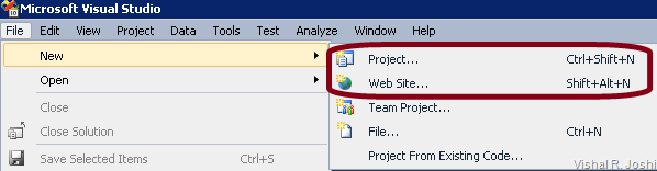 File-New-Project