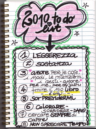 2010 to do list!