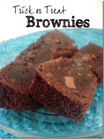Baking with tots…trick or treat brownies