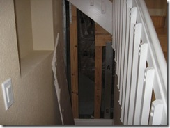 EXAMPLE AREA OF REMOVED WALL (BY OWNER)