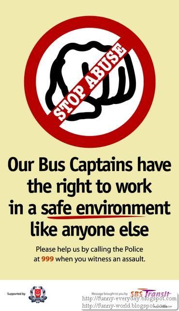 新加坡巴士 不准打司機 規定 (1)
