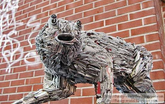 Sculptures made from Newspapers by Nick Geogiou (6)