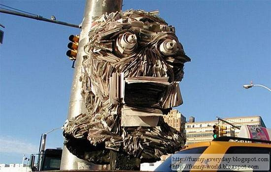 Sculptures made from Newspapers by Nick Geogiou (9)