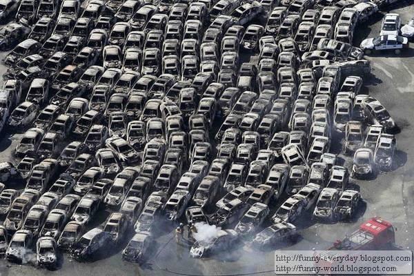 日本地震海嘯後空拍圖