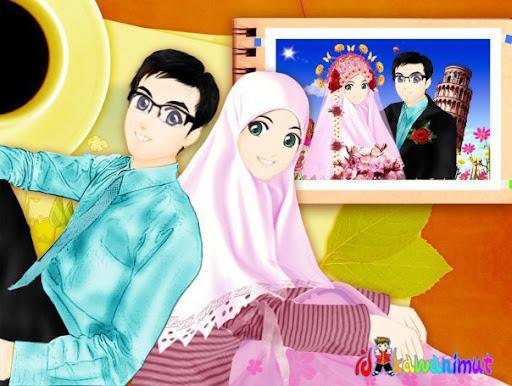 Koleksi Gambar Kartun Ikhwan Akhwat Mas Eko