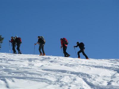 Aufstieg zur Schönfeldhütte