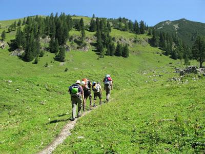 Aufstieg zur Lamsenjochhütte