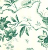 aqua toile wallpaper 2
