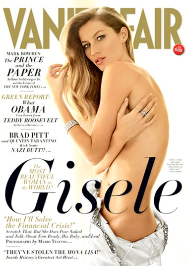 Gisele Bundchen Vanity Fair May 2009 Cover Photo
