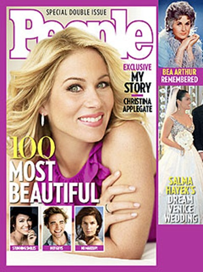 Christina Applegatev covesr 100 Most Beautiful issue of People magazine