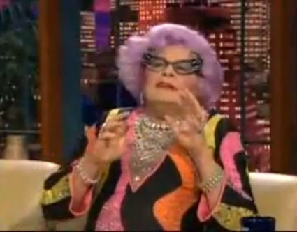 Dame Edna on Jay Leno Show Picture