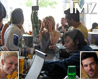 LeAnn Rimes Eddie Cibrian at  Staples Center Bar photo