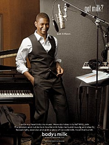 Usher Got Milk Ad for Body By Milk Campaign 2009 picture