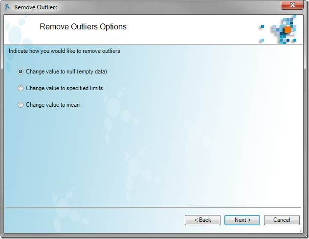 Remove Outliers Options