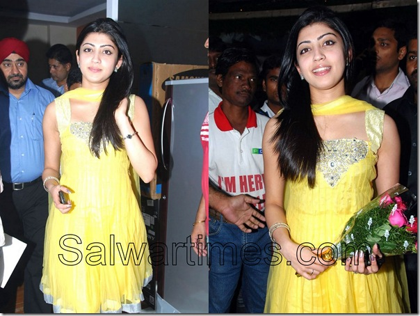 Pranitha_Yellow_Designer_Salwar_kameez
