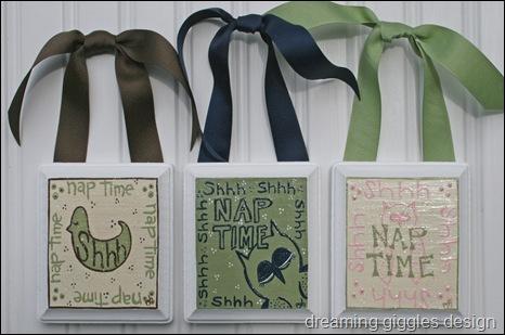 nap time plaques
