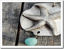 starfish with aquamarine drop