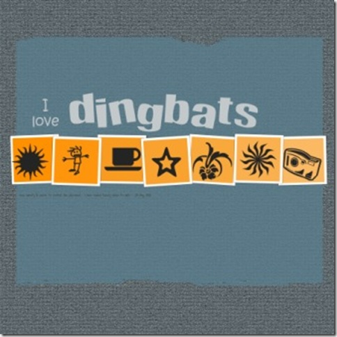 i love dingbats web