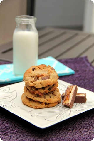 PB Snickers Cookies2