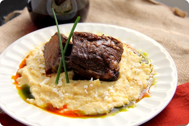 Chile Rubbed Short Ribs with Creamy Polenta 2